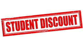 Student discount. Rubber stamp with text student discount inside,  illustration Stock Photo