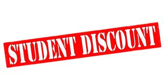 Student discount. Rubber stamp with text student discount inside,  illustration Royalty Free Stock Photo