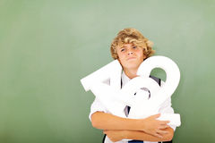 Student dislike maths Royalty Free Stock Images