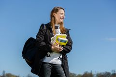 Student with documents Royalty Free Stock Photography