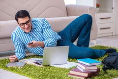 The student doing distance mba online training stock photos