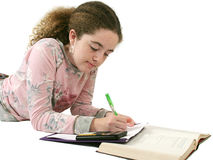 Student Doing Homework Stock Photography