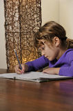 Student doing homework Royalty Free Stock Photos