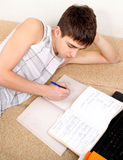 Student doing Homework Stock Photo