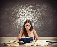 Student with doubts. And gaps in matters royalty free stock photography