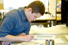 Student Drafting Architecture royalty-vrije stock afbeeldingen