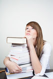 Student dreaming Stock Photo