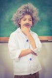 Student dressed up as einstein Stock Photo