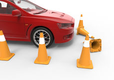 Student driving school failed test Royalty Free Stock Photography