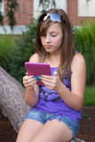 Student with E-Book Royalty Free Stock Photo
