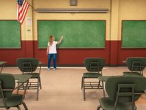 Student, Education, School, Classroom, Learning, Chalkboard, Children royalty free stock photography