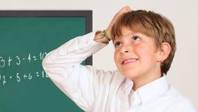 Student in een klaslokaal Royalty-vrije Stock Afbeeldingen