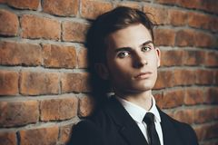 Student in elegant suit royalty free stock photo