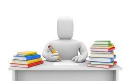 Student en boeken royalty-vrije illustratie