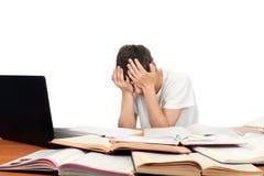 Student ermüdet Stockbild