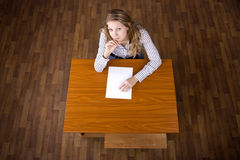 Student on examination Royalty Free Stock Photos