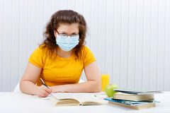 Student of the face mask Royalty Free Stock Image