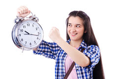 Student failing to meet deadlines Royalty Free Stock Photo