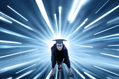 Student with fast motion blur background Stock Images