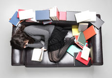 Student fell asleep Stock Photo