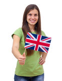 Student Female With British Flag Stock Image