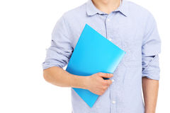 Student with files Stock Photo