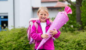 Student at first day in school Royalty Free Stock Photo