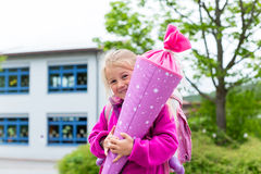 Student at first day in school Royalty Free Stock Image