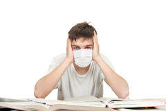 Student In Flu Mask Royalty Free Stock Images