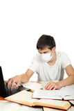 Student In Flu Mask Stock Photo