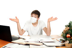 Student In Flu Mask Stock Photography
