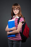 Student with folder Stock Photo
