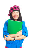Student with a folder Stock Photos