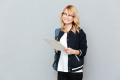 Student with folder Stock Photography