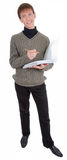 Student with folders Stock Photography