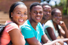 Student with friends Royalty Free Stock Photography