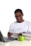 Student getting good news Royalty Free Stock Images