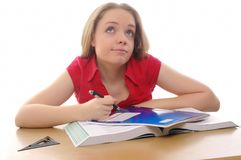 Student girl Royalty Free Stock Photo
