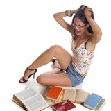 Student girl stock photography