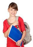 Student girl with backpack Stock Image