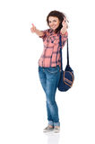 Student girl with backpack Stock Photos