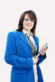 Smiling Woman in business suit Royalty Free Stock Photo