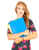 Student girl with book Royalty Free Stock Images