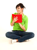 Student girl with book Royalty Free Stock Photos