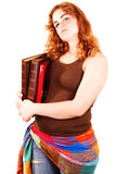 Student girl with books. Royalty Free Stock Image