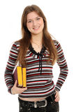 Student girl with books Stock Images