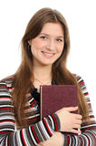 Student girl with books Royalty Free Stock Photography