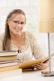 Student girl with books Royalty Free Stock Images