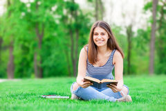 Student girl with books Royalty Free Stock Photos