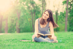 Student girl with books Stock Photo